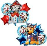 FGen 10pcs Paw Dog Patrol Birthday Party Foil Balloons, Paw Dog Patrol Globos, Paw Dog Patrol Foil Balloons, Decoración de fiesta de cumpleaños, Fiesta de cumpleaños Suministros Decoración