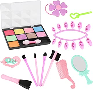 YHomU Princess Gift Birthday Holiday Safe Salon Party Professional Play Makeup Kit Plastic Professional Safe Assorted Make...