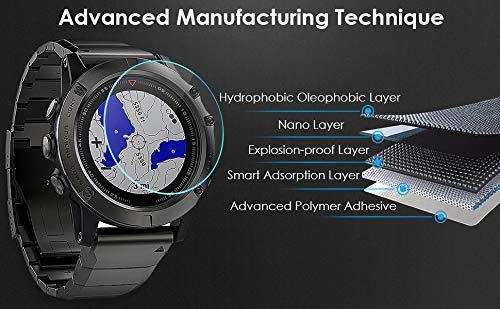 KIMILAR 4 Stück Panzerglas Kompatibel mit Garmin Fenix 5 /Honor Watch GS Pro Schutzfolie (Nicht für Sapphire & Fenix 5 Plus/5S/5S Plus/5X/5X Plus), 9H Gehärtetem Glas Displayschutzfolie für Fenix 5