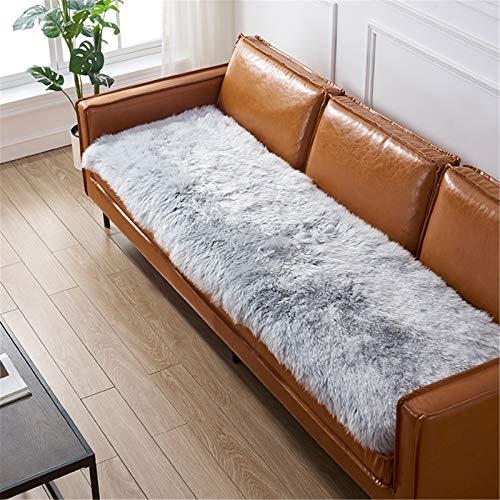 Alfombras mullidas de vellón sintético de piel Presidente de imitación de piel de oveja manta de la piel suave mullido sofá Alfombras funda de asiento Alfombras for el dormitorio del sofá del piso de