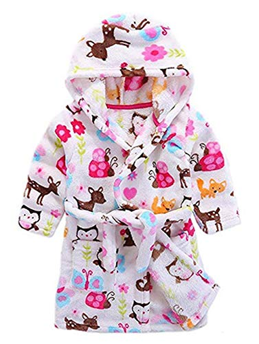 Image of Cute Hooded Animal Robe for Toddler Girls and Infants