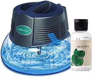 New Genuine Rainbow Rainmate Air Freshener Room Aromatizer with Bonus 2oz Eucalyptus Fragance Oil for Asthma Allergy Humidifier Aroma Therapy Cleaner Purifier Illuminated LED (Black)