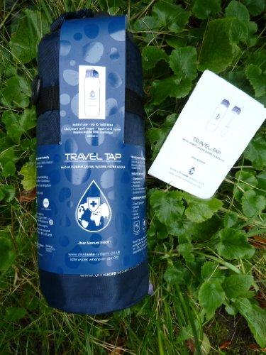 Travel Tap Bouteille filtrante avec embout et sacoche isolante 800 ml
