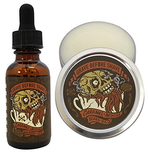 GRAVE BEFORE SHAVE Caramel Mocha Beard Pack (Caramel Mocha Coffee Scented) 1