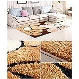 qazxsw Wohnzimmer Rutschfester Teppich Verdickte helle Seidenteppiche Fusselfreie Schlafzimmer-Bettmatten im modernen Stil - 2