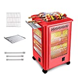Electric Patio Heaters, Portable Space Heater 2-in-1 Terrace Heater Can Barbecue and Heated 2000w Five-Sided Heater Enjoy The Warmth and Deliciousness of This Winter