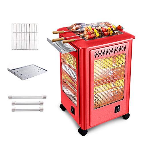 Calentadores eléctricos para patio, calentador portátil de ambiente, calentador de terraza 2...