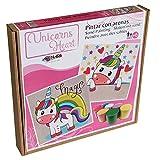 Arenart | Pack 2 Dibujos Unicornio 30x30cm | para Pintar con Arenas de Colores | Manualidades para Niña | Dibujo Infantil | +6 años