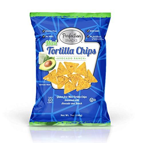 Perfection Snacks Gluten Free Mini Tortilla Chips (Avocado Ranch, 7oz / 3ct)