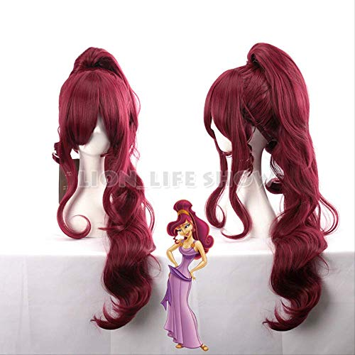 Halloween Hair Hercules Megara Anime   Cosplay peluca larga larga 90cm