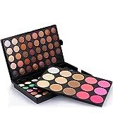 QIUUE 95 Colors Matte Pearly Eyeshadow Palette Cosmetic Powder Eyeshadow Palette Makeup Set (Black)