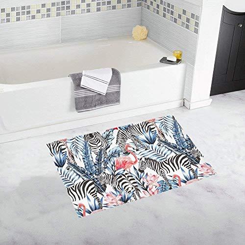 Rosa Flamingo Zebra auf tropischen Palm Leaf Home Decor rutschfeste Bad Teppich Matten saugfähigen Dusche Teppich für Badezimmer Badewanne Schlafzimmer Badematte