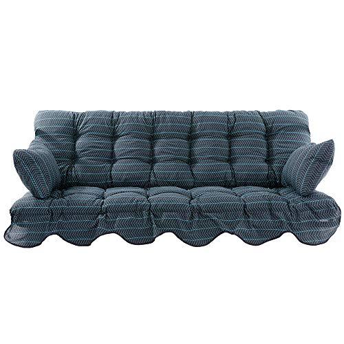 PATIO Auflagen Set Minorca für Hollywoodschaukel Polsterauflage Sitzkissen Rückenkissen Seitenkissen Gesteppt H021-06PB 184 cm