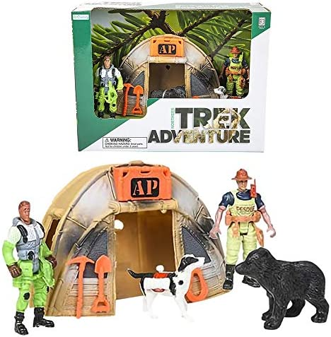 ArtCreativity Northern Trek Base Camp for Kids Camp Play Set for Boys and Girls with 2 Action product image