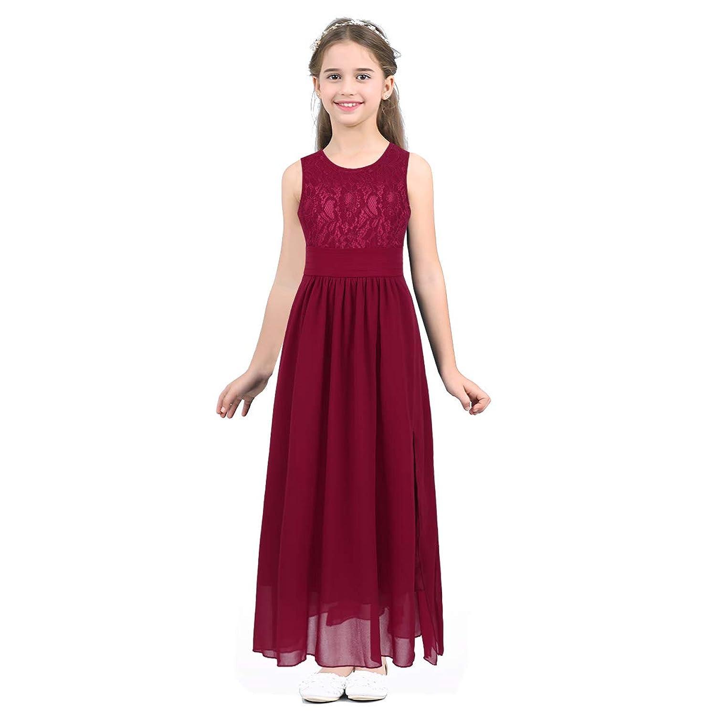 (アゴキー) Agoky 子供ドレス ロングドレス 女の子 ピアノ 発表会 パーディー 演奏会 フォーマル 入園式 結婚式 ワンピース 誕生日 ドレス パーティ 七五三
