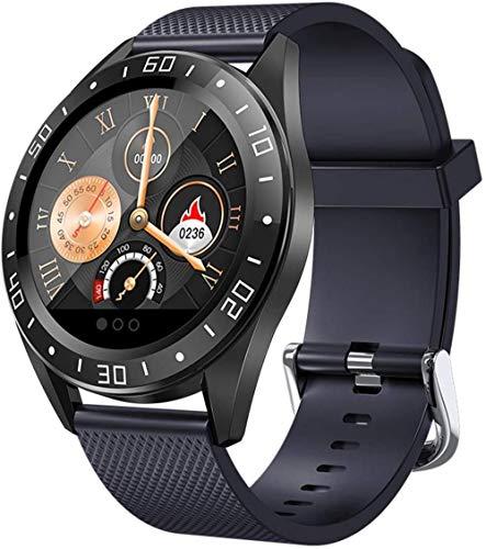 Reloj inteligente, rastreador de fitness con monitoreo de sueño, reloj inteligente de seguimiento de actividad con pantalla táctil que soporta podómetro, pasos impermeables y calorías-azul