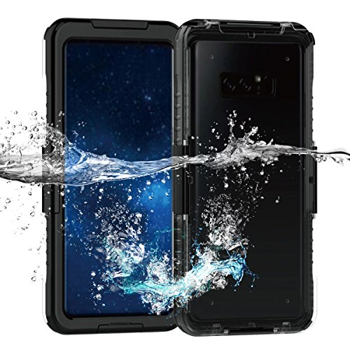Galaxy Note 8 Waterproof Case, AICase IP68 Shorkproof Snowproof Dirtproof for Swimming Diving Snorkeling(19ft/6m) Full Body All Around Protection Case for Samsung Galaxy Note 8 (Black)