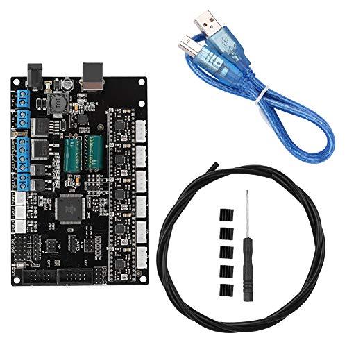3D Drucker Zubehör Motherboard TriGorilla Mainboard PCB Controller Board + A4988 Treiber Kit für 3D Drucker für Kossel für Prusa i3 für corexy (Balck)