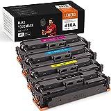 LEMERO SUPERX 410A Tonerkartusche kompatible für HP 410A CF410A CF411A CF412A CF413A für HP Color Laserjet Pro MFP M477fdw M477fdn M477fnw Pro M452dn M452nw M452dw Drucker(B/C/M/Y)