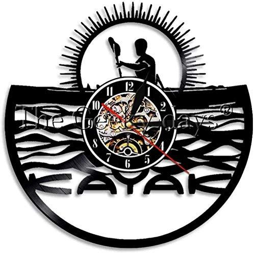 Vinyl Wanduhr Nische Kayak Life Wanduhr Vinyl Rekordzeit Uhr Zeituhr Retro Uhr Wasser Geschenk