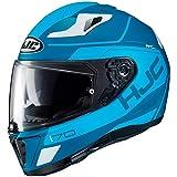 Casco de moto HJC i70 KARON MC2SF, Azul/Blanco, XS