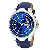Strap Material :- Leather    Band Colour : - Blue    Dial Colour : - Blue    Watch Movement Type :- Quartz    Watch Display Type :- Analog A watch is one of the essential accessories which is a part of your daily wear and is an extension of your pers...