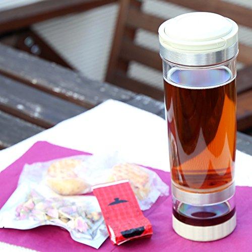 おでかけボトル アフタヌーンティーセット 中国茶・スイーツ・ボトルセット キーマン紅茶 祁門紅茶 バラ茶 パイナップルケーキ 2個 (アフタヌーンティーセット)