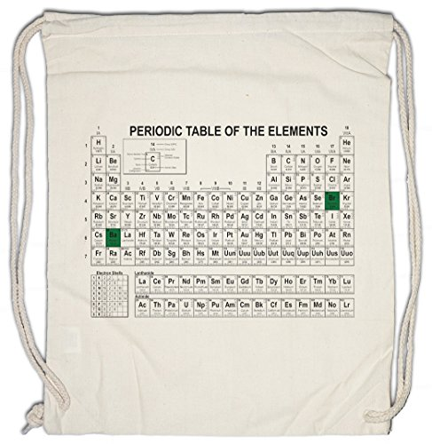 Urban Backwoods Periodic Table of The Elements I Bolsa de Cuerdas con Cordón Gimnasio Breaking Periodensystem Bad TBBT Nerd