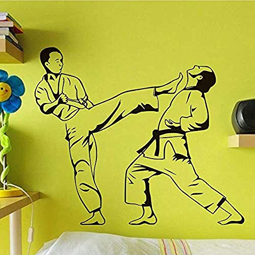Persoonlijkheid Muurstickers Vechten Sport Vinyl Muurstickers Verwijderbare Zelfklevende Behang Jongens Kamer Art Stickers DIY Home Decoratie Retro Poster 52X44Cm