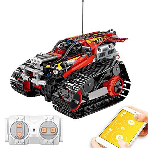 BYJIN Mobile APP-Steuerung RC Stunt Auto Bausteine Fernbedienung Verfolgt Racer Building Kit, USB Aufladen Pädagogisches Lernspielzeug Geschenke Für Kinder