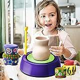 Ggoddess 10Pcs Elektrische Mini Keramik Maschine Spielzeug, Kinder Keramik Maschine Spielset, Kinder Pädagogisches Vortäuschen Spielen DIY Kunsthandwerk, Lila -