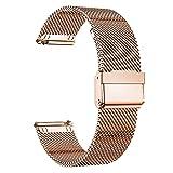 MUENShop 20mm Sgancio Rapido Cinturino Compatibile con Samsung Galaxy Watch, Huawei Watch,Cinturini in Acciaio Inossidabile di Ricambio Compatibile con Orologi per Donna e Uom