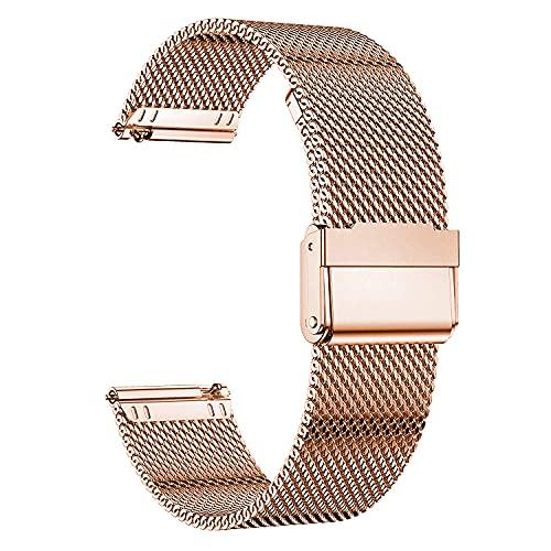 MUENShop 20mm Sgancio Rapido Cinturino Compatibile con Samsung Galaxy Watch, Huawei Watch,Cinturini in Acciaio Inossidabile di Ricambio Compatibile con Orologi per Donna e Uomo