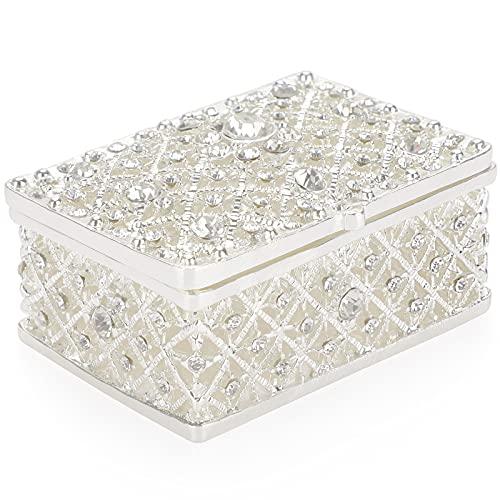 SUMTree - Joyero rectangular para joyas para casa, decoración de accesorios para anillos, pendientes, collares (pequeño)