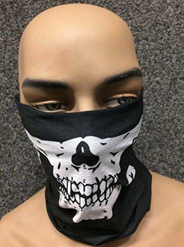 Tour de cou Masque tête de mort moto ghost