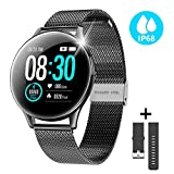 CatShin Fitness Tracker for Man Women, CS10 Smart Watch Activity Tracker IP68 Waterproof Fitness Watch with All-Day Heart Rate Blood Pressure Sleep Monitor Calorie Counter Compatible for Andriod&iOS