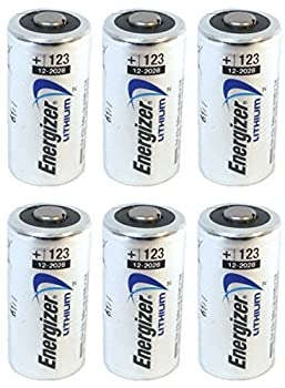 Energizer 123 6 Lithium Batteries - Pack of 6  Silver