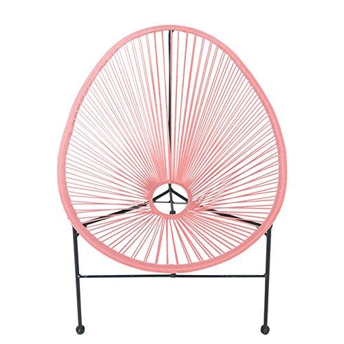 Lesli Living Loungesessel Gio 71x79x86cm Kunststoff Metallstuhl Retro Stuhl Gartenstuhl, Farbe:pink
