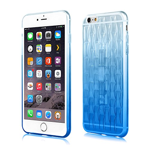 Ultra-Light Iphone 6 plus case [creative design][Invisible ring][best TPU] [transparent] fashion soft clear case for apple iphone 6 plus 5.5inch-bule