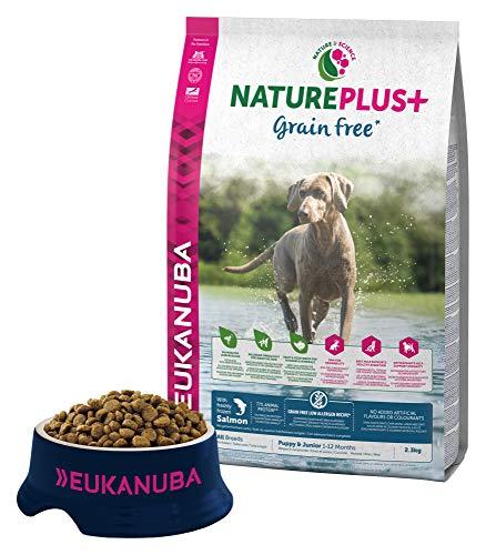 Eukanuba Nature Plus Puppy & Junior All Breed Salmon Grain Free per Cani Cuccioli e Giovani di Tutte le Taglie con Salmone - 2.3 kg