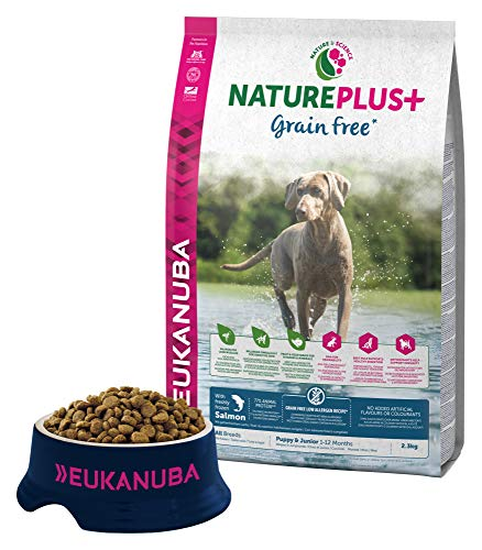 Eukanuba Nature Plus Puppy & Junior All Breed Salmon Grain Free per Cani Cuccioli e Giovani di Tutte le Taglie con Salmone - 2.3 kg