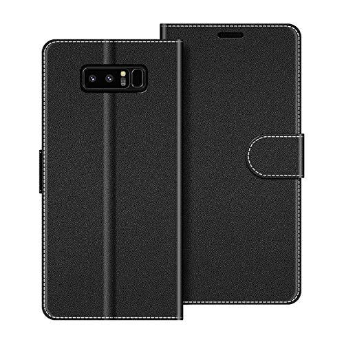 COODIO Handyhülle für Samsung Galaxy Note 8 Handy Hülle, Samsung Galaxy Note 8 Hülle Leder Handytasche für Samsung Galaxy Note 8 Klapphülle Tasche, Schwarz