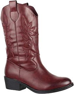 33ed84f20941b0 Bottes cowboy pour femmes Elara | Bottines aspect cuir confortables | Talon  bloc fermeture é