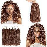 Jenniferita Crochet Hair Marlybob Crochet Hair 6 Bundles 12 Inches Kinky Curly Crochet Braids Ombre Braiding Hair Extension 1B/30.