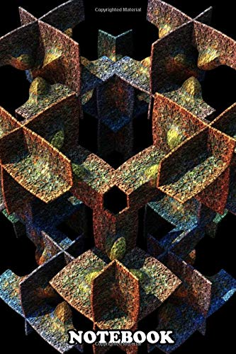 Notebook: A Three Dimensional Fractal Created With Ma Corrosion , Journal for Writing, College Ruled Size 6' x 9', 110 Pages