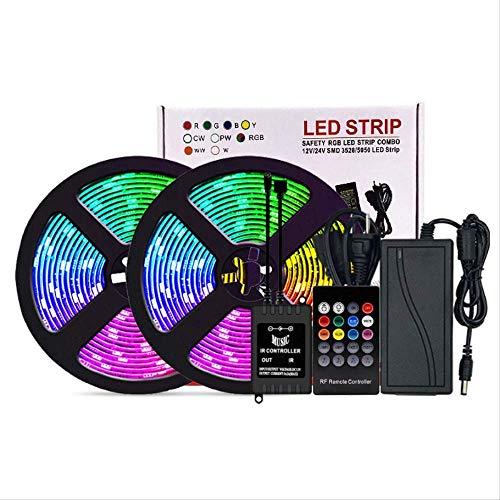 DONGYAO Cadena de luces, LED Cinturón de luz conjunto RGB 5m Música Inteligente Control de Sonido Tira de Luz Color Atmósfera Lámpara Decoración del Hogar Accesorios r Sala al aire libre.