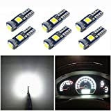 74 bulb led - WLJH 6x T5 LED Wedge Bulbs Canbus Error Free 74 73 17 Extremely Bright White 3030 Chipsets for Auto Car LED Gauge Cluster Dashboard Light Lamp Instrument Panel Indicators
