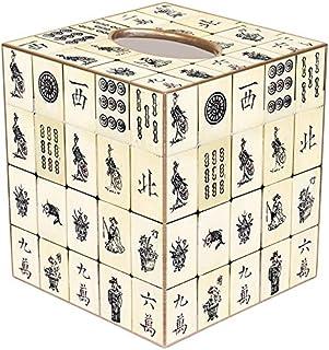 Mahjong Gift • Home Décor • Classic Antique Mahjong Paper Mache Tissue Box Cover