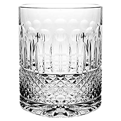 Crystal Double Old Fashioned - Set of 6 Glasses - Hand Cut DOF tumblers - Tumbler Glass For Whiskey - Bourbon - Water - Beverage - Drinking Glasses - 16 oz - Made in Europe By Barski
