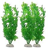unknows 3 piezas de decoración de acuario verde artificial de plástico para plantas de pecera